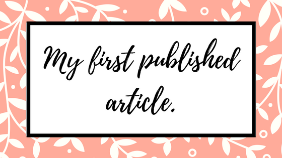 My first publishedarticle!